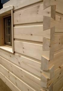 Dovetail log home kit