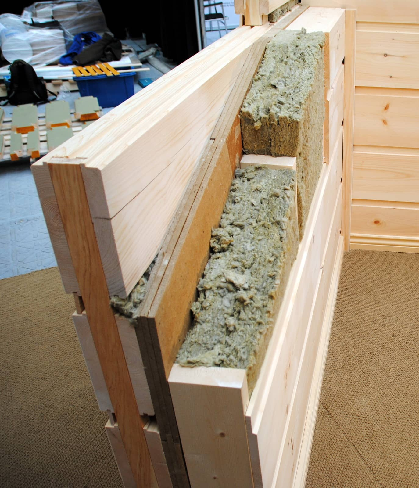 Trappeurhomes Log Wall Insulation High Efficient