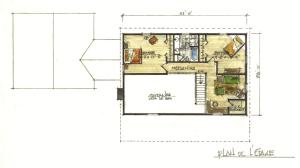 Dovetail model log home Cervois 2nd floor
